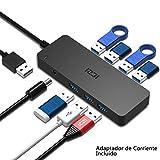 ICZI Hub USB 3.0 7 Puertos USB 3.0 Alimentacion Externa Rapida Velocidad de 5Gbps + 1* Adaptador de...