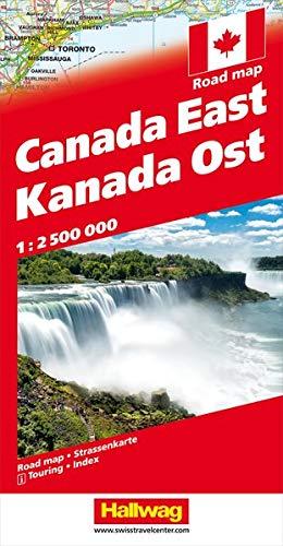 Kanada Strassenkarte Ost 1:2.5 Mio (Hallwag Strassenkarten)