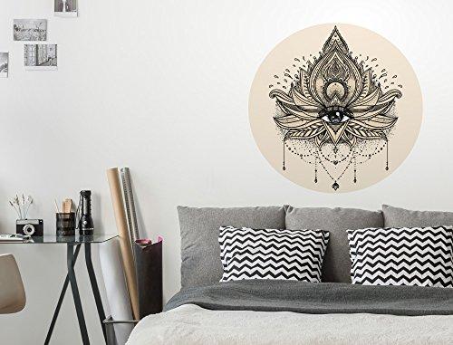 I-love-Wandtattoo WAS-12149 Wohnzimmer Wandtattoo Indien ''Auge mit indischer Verzierung'' Design Motiv zum Kleben Wandaufkleber Gottesauge Ruhe Schlafzimmer Aufkleber Meditation XXL Ketten Schmuck Buddhismus Hinduismus