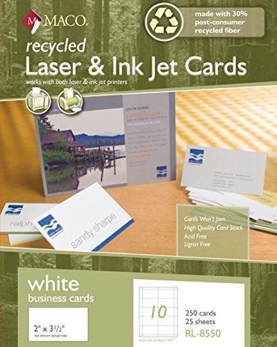 Laser/Ink Jet Visitenkarten, 2x 3–1/5,1cm, 10pro Blatt, 250Pro Karton (rl-8550) (Promotion Card-boxen)