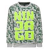 LEGO Wear Jungen Lego Ninjago M-72646-Sweatshirt, Grau (Grey Melange 921), 128