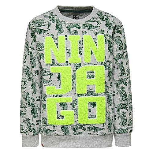 LEGO Wear Jungen Lego Ninjago M-72646-Sweatshirt, Grau (Grey Melange 921), ()