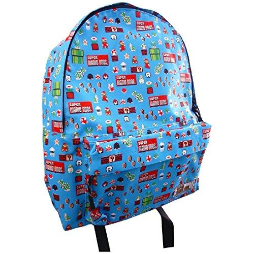 Super Mario Bros Retro estilo Casual mochila mochila mochila–azul bdmr142