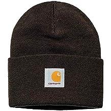 91778b1d028de7 Carhartt WIP Damen und Herren Hat Winter Strickmütze Unisex Beanie Mütze  mit 7kmh Aufkleber