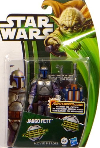 Jango Fett Bounty Hunter with Missile Firing Backpack - Star Wars Movie Heroes Collection 2013 von Hasbro