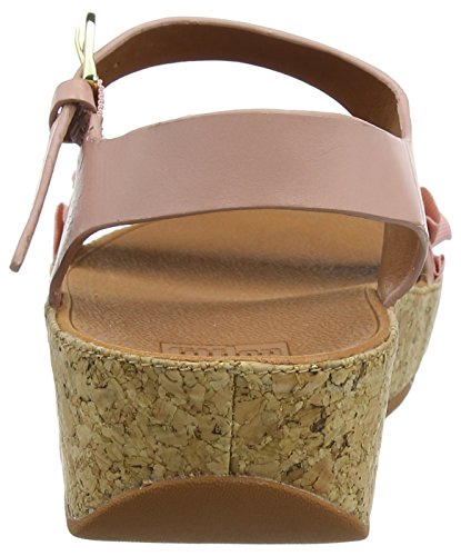 FitFlop Ruffle Back-Strap, Sandales Bout Ouvert Femme Pink (Dusky Pink)