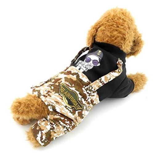 Zunea-piccolo-cane-vestiti-per-femmina-maschio-Dog-quattro-zampe-tute-stampa-cane-cappotto-modello-Handsome-Man-camo-pantaloni
