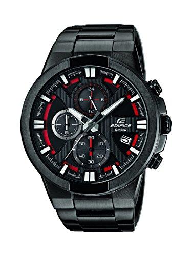 Edifice Herren-Armbanduhr XL Edifice Analog Quarz Edelstahl EFR-544BK-1A4VUEF