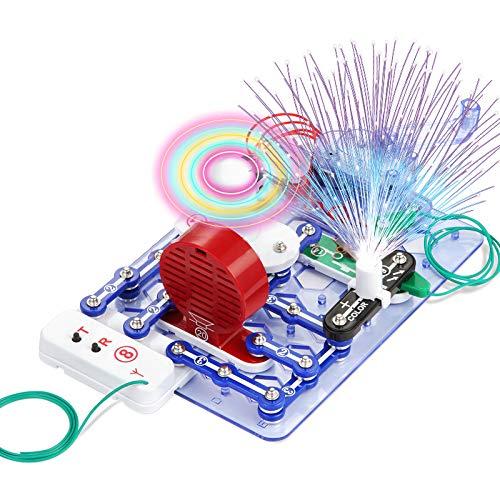 Flybiz 33-teiliger Elektronik-Baukasten mit Druckknopf-Technik Elektrobaukaste, Start, Spannende Stromkreise mit Motor und Messgerät erforschen, Experimentierkasten zu Elektrotechnik