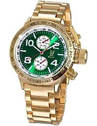 Reloj de Pulsera de Hombre, con Esfera Grande Verde, Multi-función Día-Fecha y Pulsera Metálica de Konigswerk AQ101100G