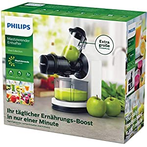 Philips Viva Collection Estrattore di Succo, Apertura d'Inserimento XL da 70 mm, Design Compatto, Tecnologia Gentle Squeezing - 2021 -