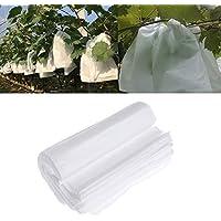 GEZICHTA 100pcs/set de bolsas de protección para frutas, tela no tejida para jardín, bolsas de protección contra insectos, barrera para evitar insectos de pájaros, moscas para proteger uvas, manzanas, tomates, etc.