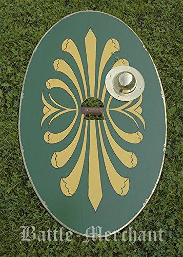 ldbuckel Parma Equestris, Kavallerie-Schild der römischen Auxiliartruppen LARP Ritter Schild Mittelalter Wikinger ()