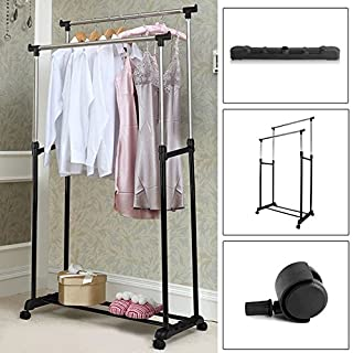AllRight Adjustable Clothes Rack Clothes Display Stand Double