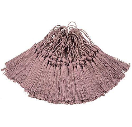 100pcs 13cm / 5 pulgadas Silky Floss marcador Borlas