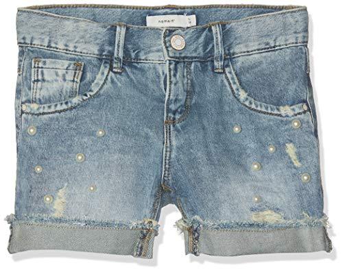 Name it nos nkfrandi dnmtala 1176 shorts noos pantaloncini, blu light blue denim, 122 bambina