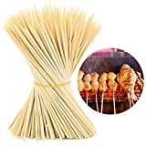 #5: HOKIPO® Bamboo Skewer Stick Set, 12 inches (90-100 Sticks Approx)