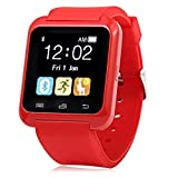 Wiko Goa Compatible U8 Bluetooth Smart Watch / Wrist Watch / Wearable Watch with Sim Card Support for High Quality Calling | Facebook and WhatsApp | Touch Screen | All functions of Smartphones | Smartwatch Phone with Camera TF SIM Card Slot | Compatible with 2G 3G 4G Android Mobile Phones & IOS Samsung Vivo Sony Gionee Xiaomi Redmi MI Lenevo Motorola Oppo HTC Google Micromax Intex and all smartphones