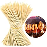 HOKIPO Bamboo Skewer Stick (Size 12 inches) -Set of 90 to 100