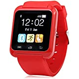 HTC Desire 600 Dual Sim Compatible U8 Bluetooth Smart Watch / Wrist Watch / Wearable Watch With Sim Card Support For High Quality Calling | Facebook And WhatsApp | Touch Screen | All Functions Of Smartphones | Smartwatch Phone With Camera TF SIM Card Slot