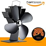 GalaFire Power Free Fan for Fireplace Wood Ovens Fuel Cost Saving 4 Blades Stove Fan Fan Heater Fireplace Chimneys Eco Friendly