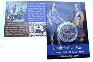 King Charles 1. Sechs Pence Reproduktion Medaille (Englisch Bürgerkrieg)