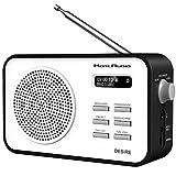 MoreAudio Desire DAB Digital FM Radio Alarm Clock - Rechargable Battery / Mains Powered - Black