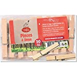 ECODIS 50 Wooden Clothes Pegs