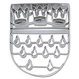 Städter Präge-Ausstecher Köln Wappen, Edelstahl, Silber, 11 cm