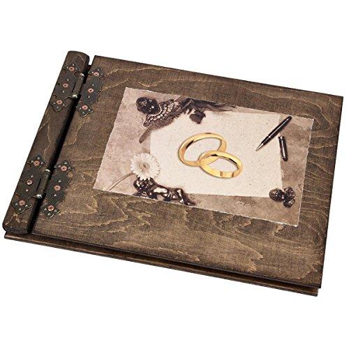 Fotoalbum aus Holz mit Hochzeitsmotiv Hochzeitsalbum Hochzeitsgeschenk