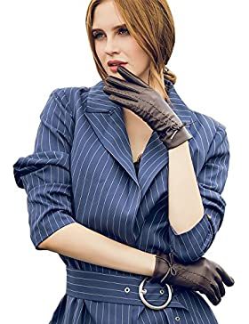YISEVEN Guanti femminili invernali in vera pelle di pecora/guanti di pelle vera /guanti autentica/guanti touch