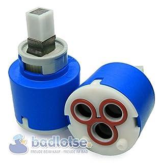 AQVAZONE Ersatz-Kartusche 35 mm flach mit Durchflußbegrenzung für Armaturen