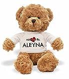 AdoptedBy TB1Aleyna Ours en Peluche Portant Un t-Shirt Nom personnalisé