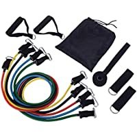 PREUP Resistance Bands Set 100LBS 11pcs Available Pull Up Assist Bands Fitness Stretch Workout Band Professional Strength Training Body Building Yoga Exercise Ankle Loop Band for Men and Women