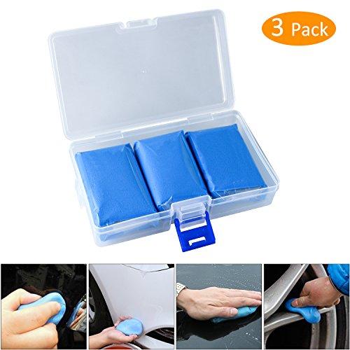 3Pcs Reinigungsknete Auto, Tencoz auto Reinigungsknete für Lackreinigungsknete, Reinigungsknete zur Lackpflege Reinigungs Knete für Auto Motorrad, Blau 100g