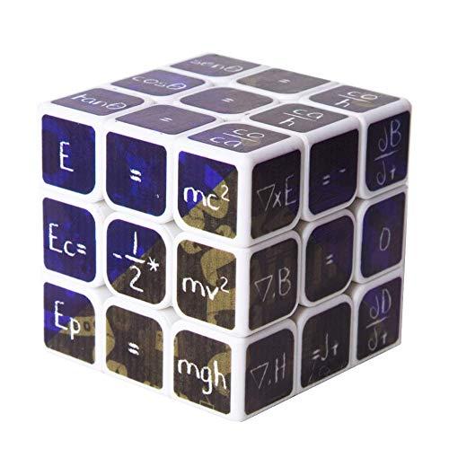 YCGJ Rubik Cube Original Piramide Wettbewerb Mathematik-Geschwindigkeit Cube Magie Rätsel Cube Festgelegt Für Gehirn-Trainingsspiel,White