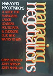 Managing negotiations by Gavin Kennedy (1982-07-30)