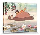 1art1 78871 Das Dschungelbuch - Mowgli Und Baloo Poster Leinwandbild Auf Keilrahmen 50 x 40 cm
