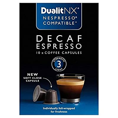 Dualit Decaf Nespresso Compatible NX Coffee Capsules 10 per pack