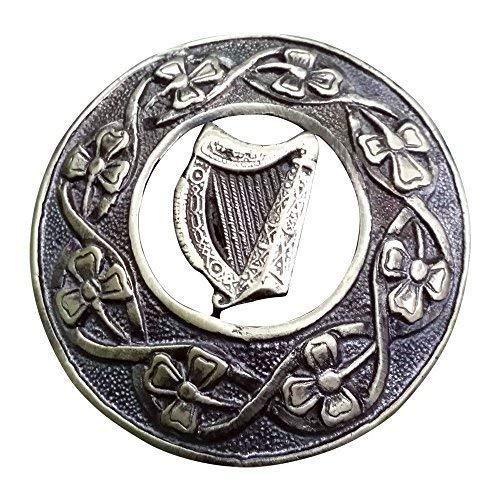 """TC Keltisch Kilt Fly Plaid Brosche Antik Veredlung 3\"""" (7.62cm)/ Schottisch & Broschen Verschiedene Stil - Antik, Keltisch Irisch Harfe"""