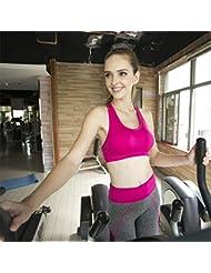 Primavera ropa de yoga femeninos pieza de ropa deportiva traje ropa de deporte sujetador , rose red , s/m new