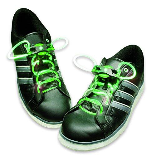 HyCell leuchtende LED-Schnürsenkel 80cm LED-Schuhbendel leuchten in blau, grün, pink oder rot (Für 1 Paar Schuhe) (Pimp In Lila)