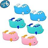 Adesivi per vasca da bagno antiscivolo - GreeSuit Adesivi per doccia da bagno per bambini Decalcomanie da bagno Tappetino da bagno (6-pack Fish)