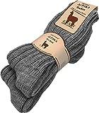 normani 2 Paar Wintersocken aus Alapkawolle und Schafwolle für Damen und Herren 100% Natur Farbe Anthrazit Größe 35/38
