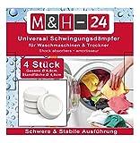 M&H-24 Schwingungsdämpfer/Vibrationsdämpfer/Antivibrationsmatte für Waschmaschine & Trockner, Waschmaschinenzubehör
