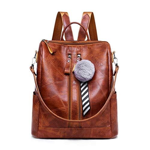 Fashion Women Lady School Leather Girls Backpack Travel Handbag Shoulder Bag Anti-Theft Rucksack