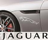 2 mal Jaguar Raubkatze links rechts 20 cm Aufkleber Decal Sticker Scheibe Lack Tuning Autoaufkleber Hochleistungsfolie von myrockshirt ® estrellina Glücksstern