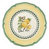Villeroy & Boch French Garden Valence Frühstücksteller, 21 cm, Premium Porzellan, Weiß/Bunt