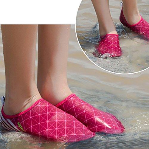 LvRao Männer Und Frauen Aqua Schuhe Strandschuhe Weiche Elastische Schwimmen Schuhe Strand Wasserschuhe Pink