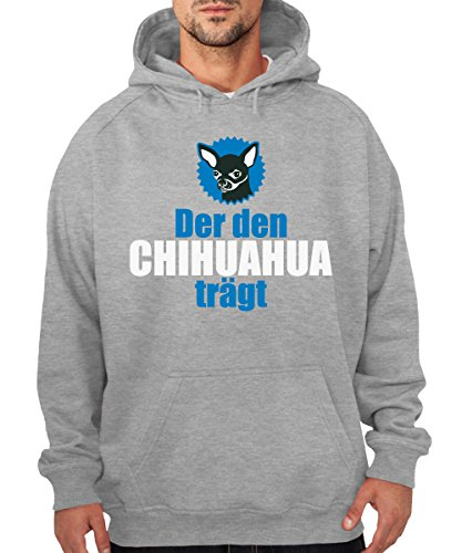 ::: DER DEN CHIHUAHUA TRÄGT ::: Boys Kapuzenpullover Sports Grey